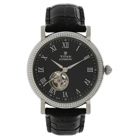 Titan Black Dial Automatic Watch For Men (nh90032sl01j )