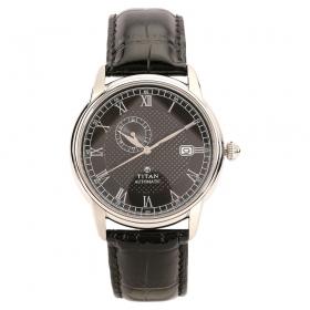 Titan Black Dial Automatic Watch For Men (nh90037sl01j)