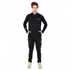 Nike Black Polyester Lycra Track Suit
