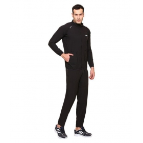 Nike Black Polyester Lycra Tracksuits
