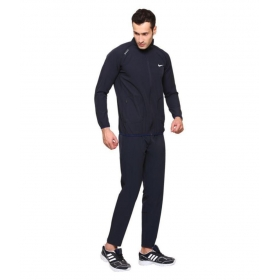 Nike Navy Polyester Lycra Tracksuits