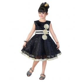 Black Net Frock For Girls