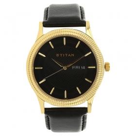 Titan Black Dial Analog Watch For Men (nj1650yl02)