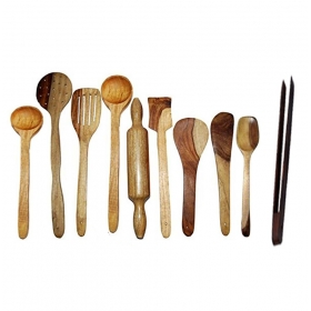 Desi Karigar Wooden Kitchen Tool Set