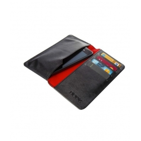 Black Leather Pouches For Nokia C201