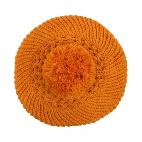 Noise Orange Woollen Beret Cap