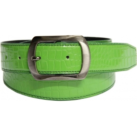 Men Casual Green Artificial Leather Belt
