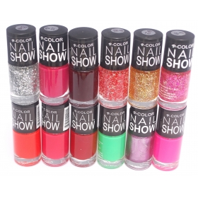 V-color Nail Show Polish Set Of 12 Pcs. - Multicolor