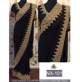 New Traditional Party Wear Elegant Look Saree