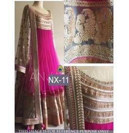 Superb Net Pink Gowns