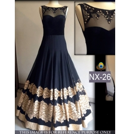 Iant Georgette Black Gowns