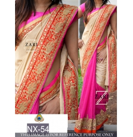 Traditional Heavy Bordered Designer Saree