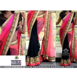 Gorgeous Look Desginer Saree With Unstitched Blouse Blouse Piece