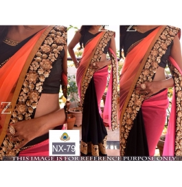 A Beautiful Designer Party Wear Saree