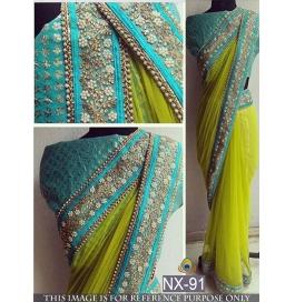 Designer Ethnic Wear Saree With Blouse Piece
