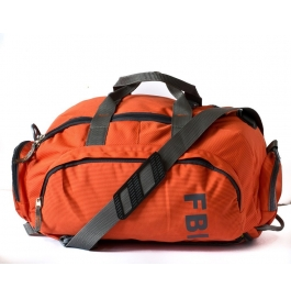 Fbi 1098cms Softsided Polyester Orange Gym Duffle Bag