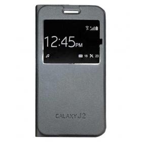 Samsung Galaxy J2 Flip Cover By O4u - Black