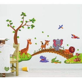 Ay9245 Jangle Animals  Nature Wall Sticker  Jaamso Royals