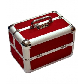 Red Makeup And Jewellery Vanity Box