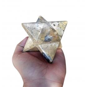 Leopardskin Jasper Merkaba Star Large Sacred Geometry Reiki Point 8 Healing