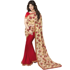 Indian Women's Heavy Embroidered Wedding Saree Bollywood Party Wear Saree Odip2003