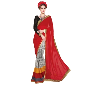Indian Women's Heavy Embroidered Wedding Saree Bollywood Party Wear Saree Odip2006