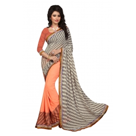 Indian Women's Heavy Embroidered Wedding Saree Bollywood Party Wear Saree Odip2007