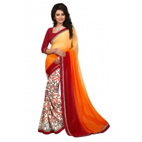 Indian Women's Heavy Embroidered Wedding Saree Bollywood Party Wear Saree Odip2008