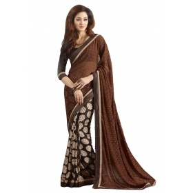 Indian Women's Heavy Embroidered Wedding Saree Bollywood Party Wear Saree Odip2012