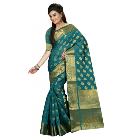 Odin Paris New Grey Georgette Printed Lace Work Saree With Heavy Work Blouse Piece