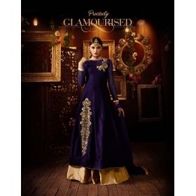 Odin Paris Presents Exclusive Diwali Special New Designer Green Anarkali Suit