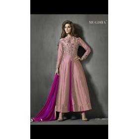 Odin Paris Special Embroidered Anarkali Pink Salwar Suite