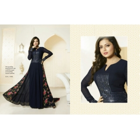 Odin Paris Sepecial Exclusive Designer Collection Neavy Blue Colour Gown