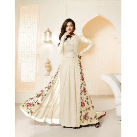Odin Paris Sepecial Exclusive Designer Collection White  Colour Gown