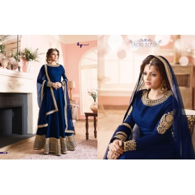 Odin Paris Presents New Year Special Bollywood Hit Designe Blue Colour Anarkali Suit