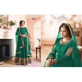 Odin Paris Presents New Year Special Bollywood Hit Designe Green Colour Anarkali Suit