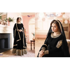 Odin Paris Presents New Year Special Bollywood Hit Designe Black Colour Anarkali Suit