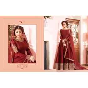 Odin Paris Presents New Year Special Bollywood Hit Designe Red Colour Anarkali Suit