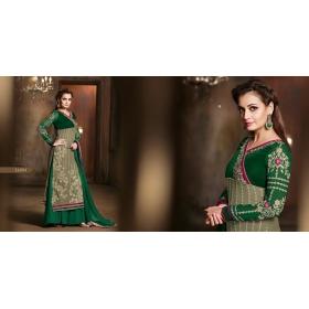 Odin Paris Prsents New Designer  Green Anarkali Suit