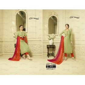 Odin Paris Special Fully Chiffon Fabric Designer Straight Suit