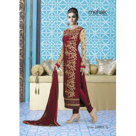 Odin Paris New Designer Indian Ethinic Wedding Bollywood Traditional Mahek Red Suit Salwar Kameez