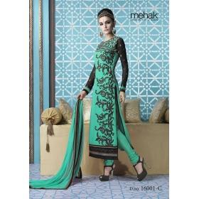 Odin Paris New Designer Indian Ethinic Wedding Bollywood Traditional Mahek Green Suit Salwar Kameez