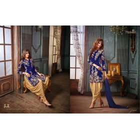 Odin Paris Present New Maskeen 19006 Blue Patiyala Salwar Suit