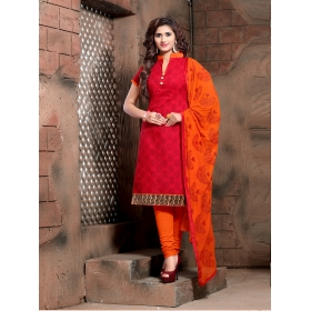 Odin Paris Present Latest Stylish Red And Orange Fancy Heavy Designer Salwar Suit