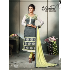 Odin Paris Exclusive New 1008_glam Up Gorgeous Grey Straight Salwar Suit