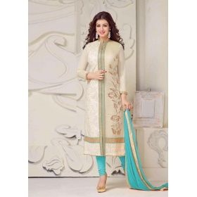 Odin Paris Special Beautifull  Colord Cotton Emoidered Chudidar Straight Suit