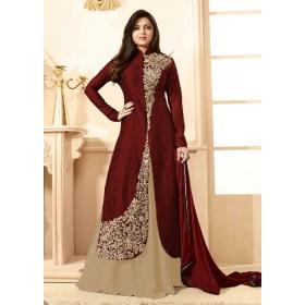 Odin Paris Excusive Latest Designer Brown & Beige Color Salwar Suit
