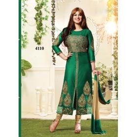 Odin Paris Festival Special 100% Qulity Ayesha Exclusive Designer Green Churidar Salwar Kameez