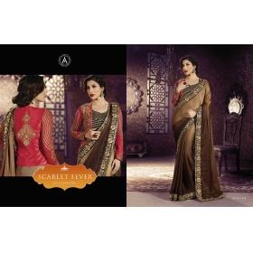 Amaira Embroidered Designer-saree Saree
