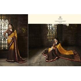 Beautiful Brown Amira Designer Saree